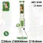 Bongo szklane Dope Bros Grass Pretty Lady lodowe h35cm/fi55/40mm/szlif 18.8mm/szkło 4mm