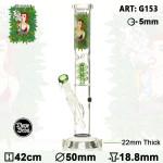 Bongo szklane Dope Bros Grass Pretty Lady lodowe h42cm/fi50mm/szlif 18.8mm/szkło 5mm