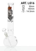 Bongo szklane Smoking Lew h30cm/fi40mm/szlif 14.5mm