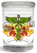 "Słoik ""Caduceus Series Stash Jar – Design 1""  (""Caduceus Series Stash Jar – Design 1"" Stash Jar 1/4"