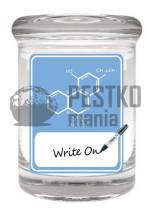 Słoik z wzorem cząsteczki THC - do wielokrotnego podpisywania (THC Molecule Writable Stash Jar)