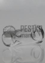 Szklany ustnik - owalny